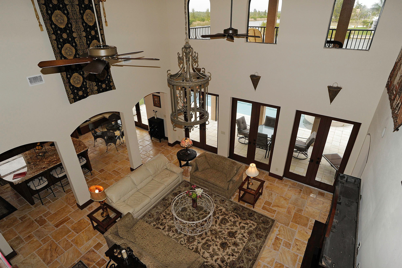 Living Room View from 2nd Floor Landing