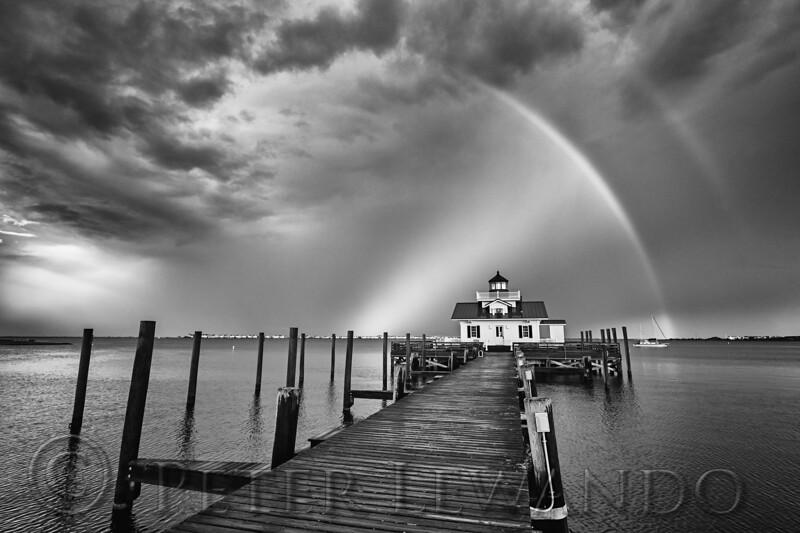 Roanoke Marshes Light Rainbow