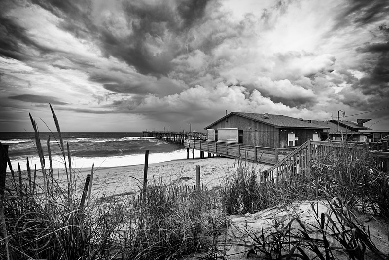 Old Nags Head Pier Clouds