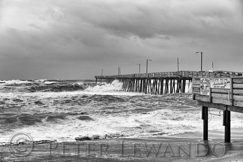 Nags Head Pier Hurricane Flourance