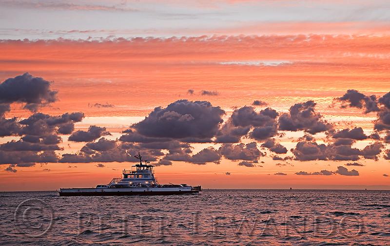 Hatteras Ferry Sunset