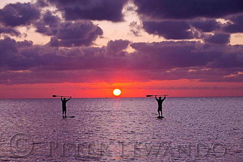Paddle Boarding Sunset