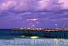 Avon Pier Moon Rise