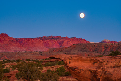 Moon Over the Cliffs of Capital Reef