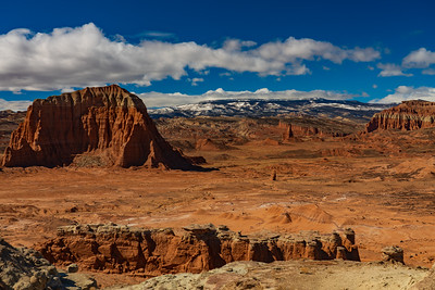 Capitol Reef National Park from Lower South Desert Overlook
