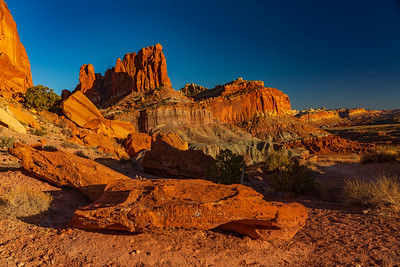Cliffs of Capital Reef at Sunset