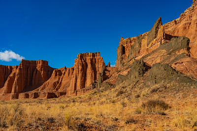 Sheer Cliffs in Cathedral Valley
