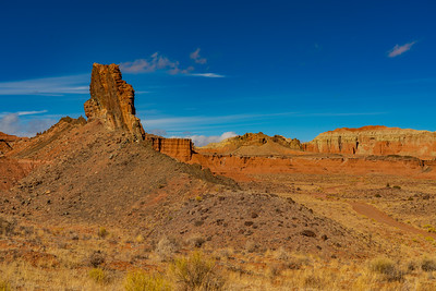 Rock Butte in Cathedral Valley