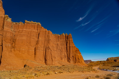 Clouds Over the Cliffs of Cathedral Valley