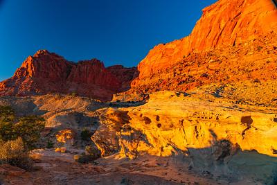 Capital Reef Cliffs as the Sun Sets