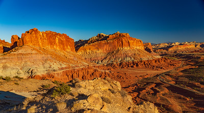 Setting Sun on the Cliffs of Capital Reef