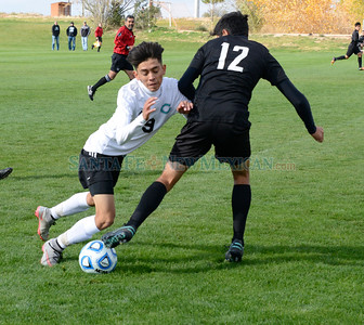 Boys New Mexico State High Schools Class 5A soccer match between Santa Teresa and Capital played at the New Mexico Soccer Tournament Complex in Bernalillo, New Mexico on Thursday, November 3, 2016. Clyde Mueller/The New Mexican