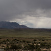 Storm clouds over the Henry Mountains.