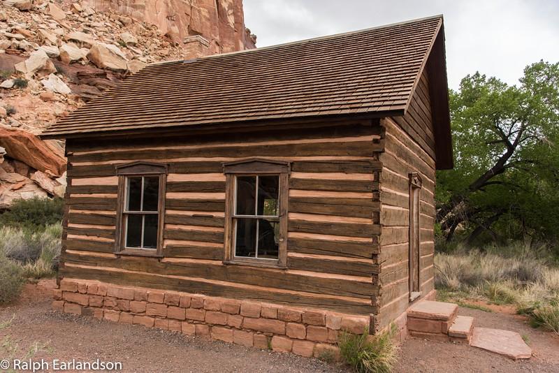 A restoration of Fruita Grade School, a one-room schoolhouse.