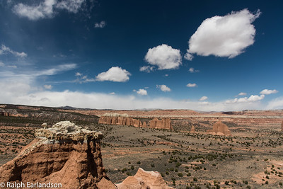 Fair-weather clouds over Cathedral Valley.