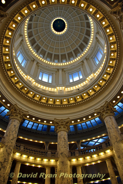 USA, Idaho, Boise, Capitol Rotunda
