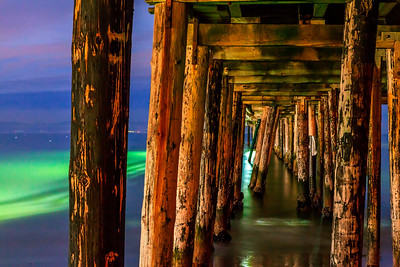 Under the Capitola Wharf before sunrise