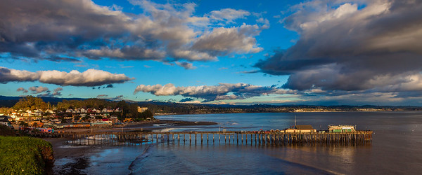Capitola Village after winter storm