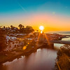 Capitola Village during sunrise
