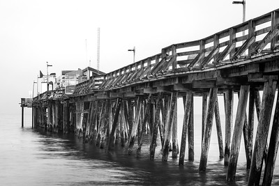 Capitola Wharf during foggy evening