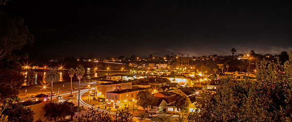 Capitola Village at Night from Depot Hill
