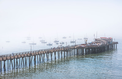 Capitola Wharf during the lifting of the morning fog