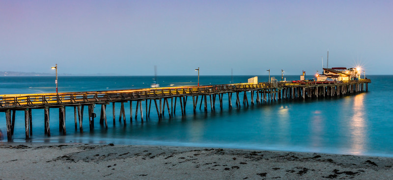 Capitola Wharf at sunset