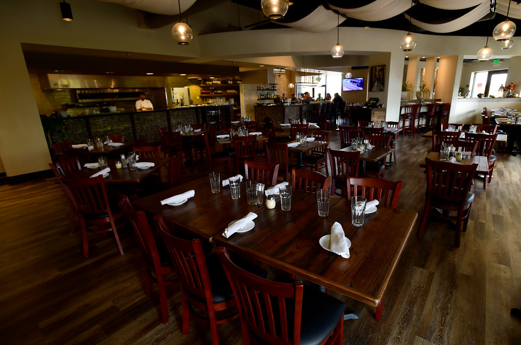. The dining area at Caprese Trattoria on Thursday in Longmont. For more photos of the food go to dailycamera.com Jeremy Papasso/ Staff Photographer/ Oct. 5, 2017
