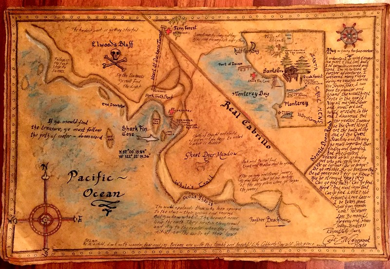 Captain E.W. Cornycook Treasure Map