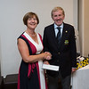Denise Luddy, Runner-Up in Ladies 9-Hole Competition receiving her prize from Captain Jim