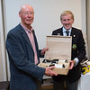 David Lynch, Winner of the Past Captains Prize receiving his prize from Captain Jim
