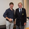 Robert McCarthy, Best Qualifier (Day#1) in the Captain's Prize receives his prize from Captain Jim