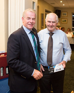 Martin Lawlor winner of Nearest The Pin In 2 on 9th Hole receiving his prize from Captain Kevin