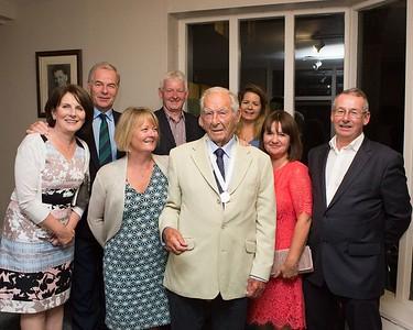 Family & Friends (L-R): Angela O'Hanlon, Captain Kevin, Ornagh, Declan O'Hanlon, Kevin (Snr), Louise, Noreen O'Gorman and Martin O'Gorman