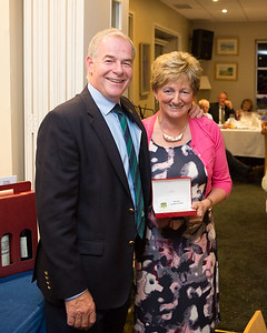 Angela Heffernan winner of the Ladies 9-Hole Competition receiving her prize from Captain Kevin