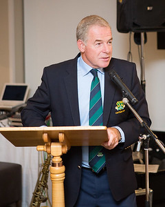 Club Captain Kevin O'Gorman in full flow after an excellent Captain's Dinner
