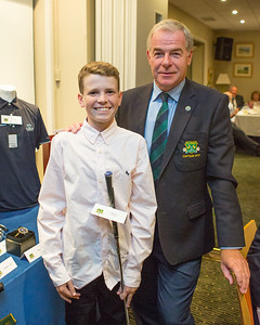 David Lally  winner of the Junior Boys Prize receiving his prize from Club Captain Kevin