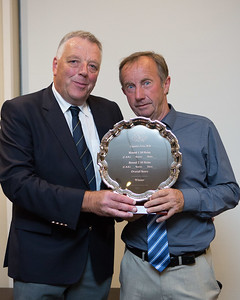 Peter presenting his Captain's Prize to Brian Higgins
