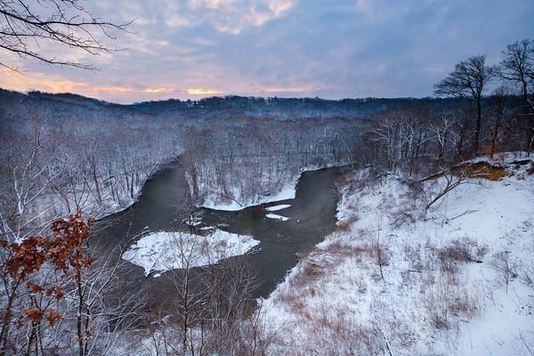 The Cascade Overlook in Winter 2