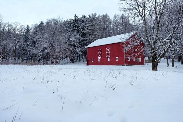 The Sackett Barn in Winter