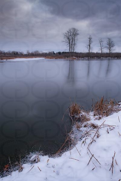 Long Lake Channel in January