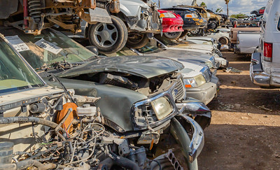 Close up Old cars stacked on top of each other, Car wrecks, Junk, Car junk, Totalled cars, Junkyard