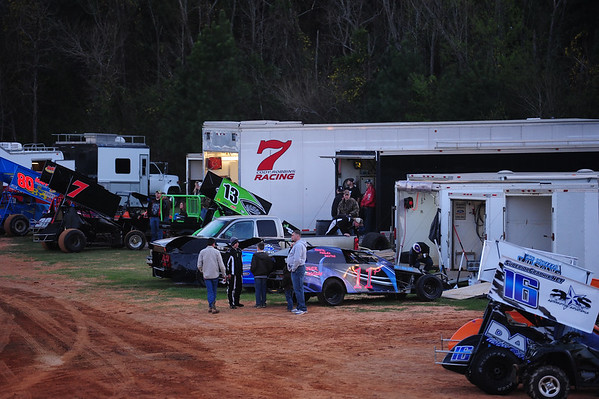 "SABINE MOTOR SPEEDWAY ""PACKING THE TRACK and FACES IN THE CROWD 3-3-12"
