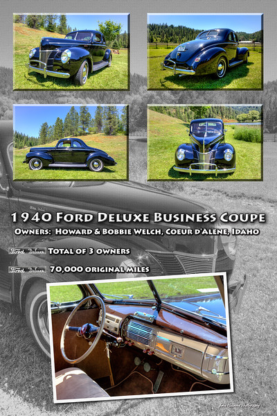 Car Poster 1940 Ford