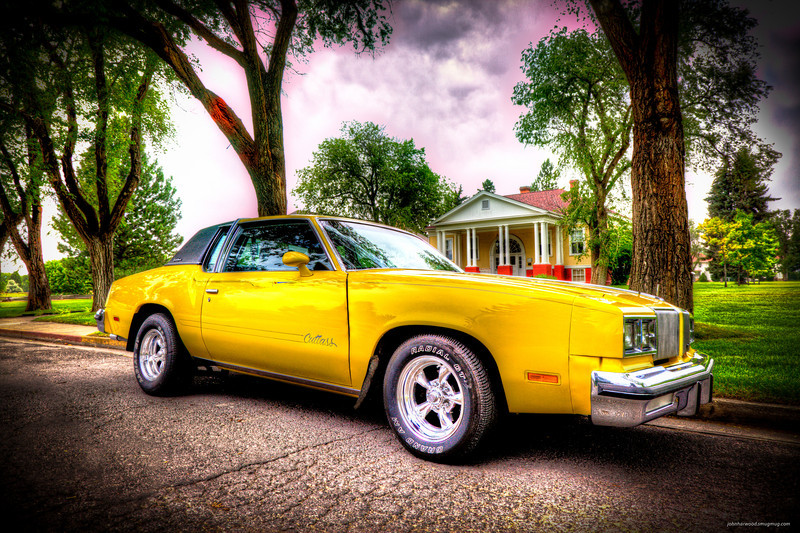 1980 Yellow Olds Cutless Supreme - Alan Benson done with HDR painterly processing.