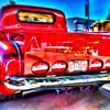 red truck back blur