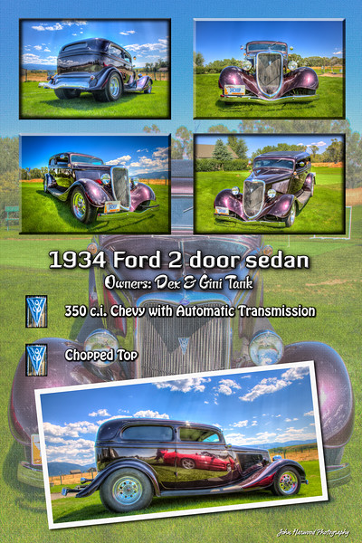 1934 Ford chopped 2 door sedan