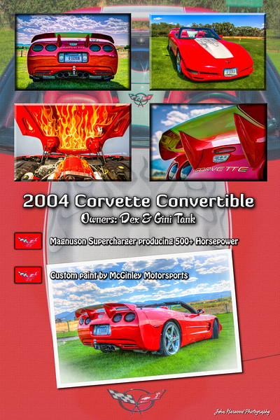 2004 Corvette Convertible photo collage car show display