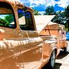1957 Chevy Pickup, Camp trailer & boat - PeachGarden City River Rod Run 2012