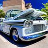 1958 Chevy PU (white-green) - Kevin Bleth (garden city river rod run 2012)